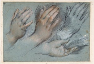 'Studies_for_the_Hands_of_the_Virgin_Mary_for_the_Annunciation'_by_Federico_Barocci